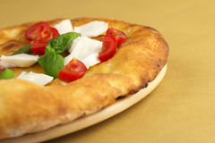 Focaccia with caprese salad Stock Photography