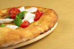 Focaccia with caprese salad Stock Photography