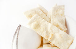 Focaccia with cheese Stock Photos