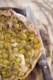 Focaccia com branco da morango das uvas Imagens de Stock