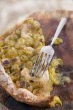 Focaccia com branco da morango das uvas Foto de Stock Royalty Free