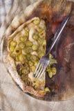 Focaccia com branco da morango das uvas Fotografia de Stock Royalty Free