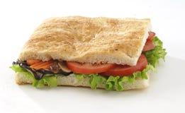 Focaccia do vegetariano imagem de stock royalty free