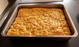 Focaccia, especialidade do pão italiano salgado Fotos de Stock