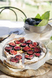 Focaccia with figs Royalty Free Stock Image