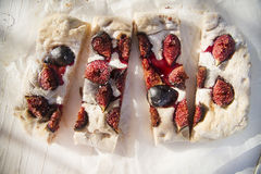 Focaccia with figs Royalty Free Stock Photos
