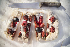 Focaccia with figs Stock Images