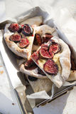 Focaccia with figs Stock Image