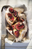 Focaccia with figs Stock Photography