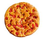 Focaccia. Italiaans Voedsel. stock foto