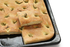 Focaccia, italian flat bread Royalty Free Stock Photos