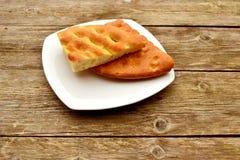 Focaccia - Italian white bread Stock Photo