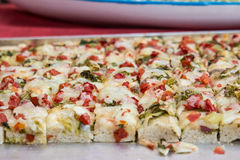 Focaccia Messinese Royalty Free Stock Images