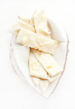 Focaccia mit Käse Stockbild