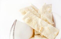Focaccia mit Käse Stockfotos