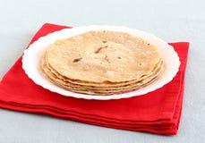 Focaccia o pila piana indiana del pane Immagine Stock