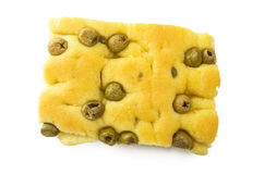 Focaccia with olives Royalty Free Stock Photos