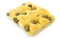 Focaccia with olives Stock Images