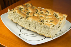 Focaccia With Olives - Loaf Royalty Free Stock Photography