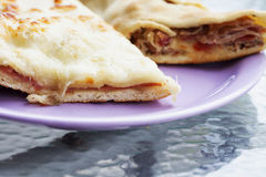 Focaccia over plate Royalty Free Stock Image