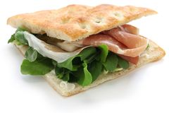 Focaccia panino, włoska kanapka Fotografia Stock