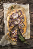 Focaccia with red onion Royalty Free Stock Photography