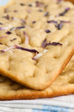 Focaccia with red onions Stock Photo