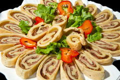 Focaccia roll Stock Images