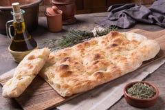 Focaccia romana bread Royalty Free Stock Photography