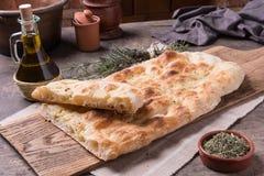 Focaccia romana bread Stock Image