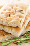 Focaccia with rosmary Stock Images