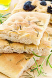 Focaccia with rosmary Royalty Free Stock Image