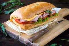 Focaccia sandwich Royalty Free Stock Photos