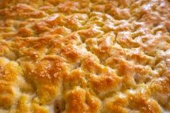 Focaccia specialitet av rimmat bröd Royaltyfria Foton