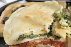 Focaccia stuffed with vegetable Stock Photography