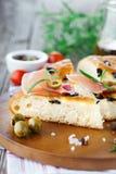 Focaccia włoski chleb Zdjęcia Stock