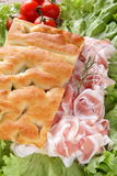 Focaccia whit bacon Royalty Free Stock Images