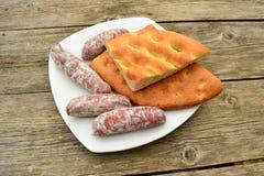 Focaccia whit rosemary bread Stock Photos