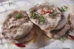 Focaccia wholemeal mąka Zdjęcie Stock