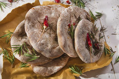 Focaccia wholemeal mąka Obrazy Stock