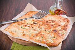Focaccia with zucchini. Stock Photography