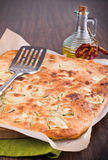 Focaccia with zucchini. Royalty Free Stock Image