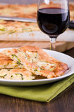 Focaccia with zucchini. Royalty Free Stock Photography