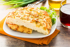 Focacciaal formaggio Royalty-vrije Stock Foto