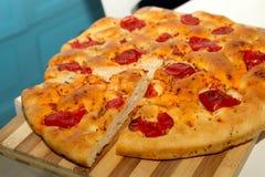 Focacciabrood van zuiden van Italië Stock Foto's
