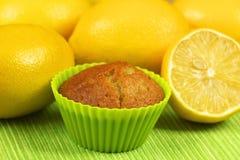 Focaccina con i limoni Immagini Stock Libere da Diritti