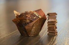Focaccina del cioccolato Fotografie Stock Libere da Diritti