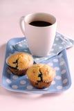 Focaccina e caffè Immagine Stock Libera da Diritti