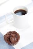 Focaccina e cofee Fotografia Stock