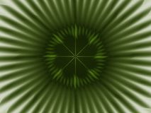 Focal point confirmed. Dark green and gray radiating fractal royalty free illustration